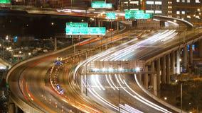 Видео Timelapse занятого шоссе сток-видео