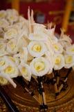 Вид деревянного цветка, который нужно поместить на месте кремации Стоковое Изображение RF