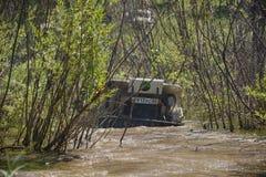 Виллис в грязи Стоковое Фото
