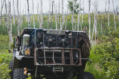 Виллис в грязи Стоковая Фотография