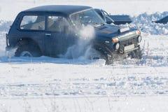 Виллис в снеге Стоковые Фото