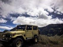 Виллис на горе Bromo Стоковая Фотография