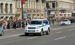 Виллис полиции на бульваре Стоковые Фотографии RF
