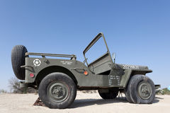 Виллис Willys на музее автомобиля эмиратов Стоковое Фото
