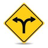 Вилка в дорожном знаке иллюстрация вектора