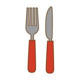 Вилка и нож иллюстрация штока