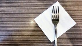 Вилка на таблице Стоковая Фотография RF