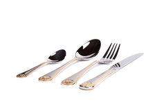 Вилка, нож и ложка Стоковое Фото