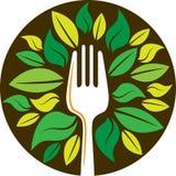 Вилка с листьями бесплатная иллюстрация