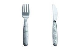 Вилки и нож детей пластичные Стоковое Изображение RF