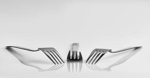 3 вилки и отражения Стоковое фото RF