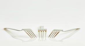 3 вилки и отражения Стоковое Изображение RF