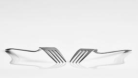 2 вилки и отражения Стоковое Изображение