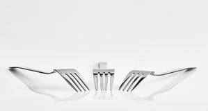 3 вилки и отражения Стоковая Фотография RF