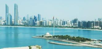 Вид на город Абу-Даби Стоковое Изображение