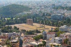 Вид на город Афин Стоковая Фотография RF