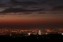 Вид на город Алма-Аты Стоковые Фотографии RF