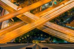 Вид на город Бангкока с скоростной дорогой Стоковое фото RF