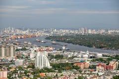 Вид на город Бангкока Стоковая Фотография
