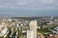 Вид на город Бангкока Стоковые Изображения