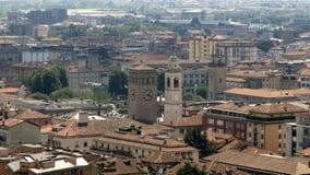 Вид на город Бергама Италии Стоковая Фотография
