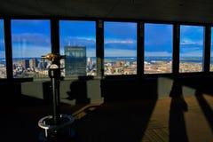 Вид на город Бостона от смотровой площадки Стоковые Фотографии RF