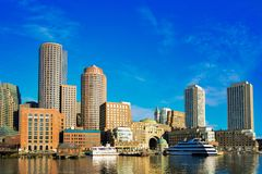 Вид на город Бостона Стоковая Фотография