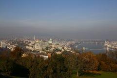 Вид на город Будапешта в Будапеште, Венгрии Стоковые Фото