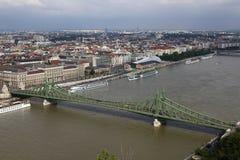 Вид на город Будапешта в Будапеште, Венгрии, 2015 Стоковые Фото