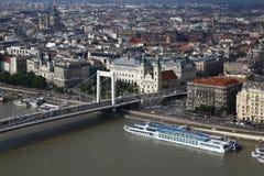 Вид на город Будапешта в Будапеште, Венгрии, 2015 Стоковое Изображение RF