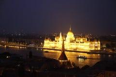 Вид на город Будапешта в Будапеште, Венгрии Стоковое фото RF