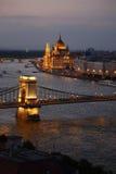 Вид на город Будапешта в Будапеште, Венгрии Стоковые Фотографии RF