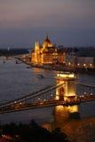 Вид на город Будапешта в Будапеште, Венгрии Стоковые Изображения RF