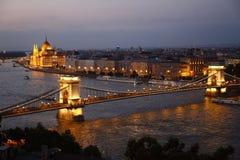 Вид на город Будапешта в Будапеште, Венгрии Стоковые Изображения