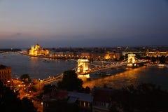 Вид на город Будапешта в Будапеште, Венгрии Стоковое Изображение RF