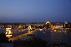 Вид на город Будапешта в Будапеште, Венгрии Стоковая Фотография