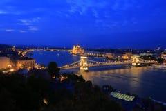 Вид на город Будапешта в Будапеште, Венгрии, 2015 Стоковое Изображение