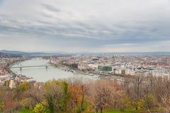 Вид на город Будапешта Стоковое Фото