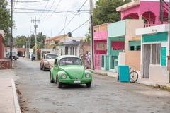Вид на город Вальядолида, Мексики Стоковая Фотография