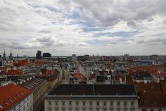 Вид на город вены в Австрии, 2015 Стоковая Фотография