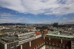 Вид на город вены в Австрии, 2015 Стоковое Изображение