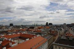 Вид на город вены в Австрии, 2015 Стоковые Изображения RF