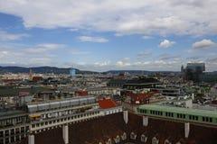 Вид на город вены в Австрии, 2015 Стоковые Фото