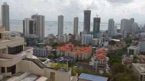 Вид на город взморья Penang Стоковое Изображение RF