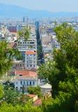 Вид на город в Афинах, Греции Стоковые Фото