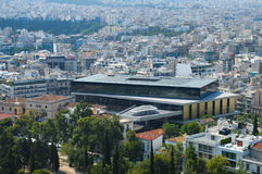 Вид на город в Афинах, Греции Стоковое Фото