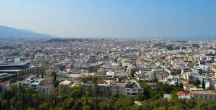 Вид на город в Афинах, Греции Стоковые Изображения