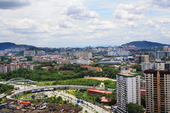 Вид на город в Malasia, Куалае-Лумпур Стоковые Фото