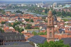 Вид на город Гейдельберга Германии Стоковое фото RF