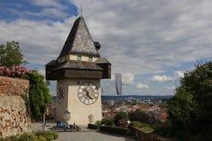 Вид на город Граца в Австрии, 2015 Стоковое Изображение